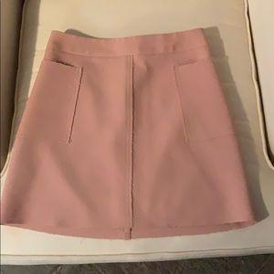 Topshop Blush Mini Skirt